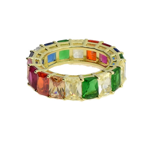 multi color band ring