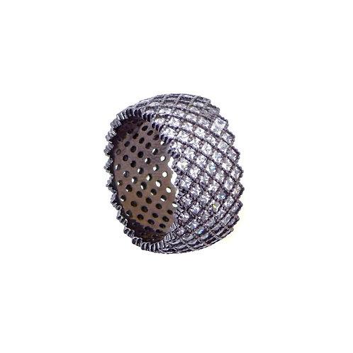 black rhoudium ring