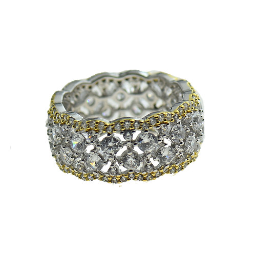 sterling silver facy CZ ring