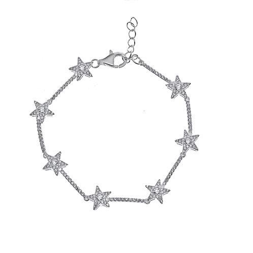 pave star bracelet