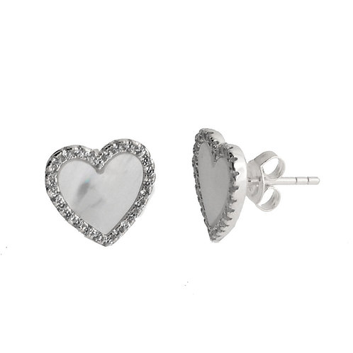 mother of pearl heart earring