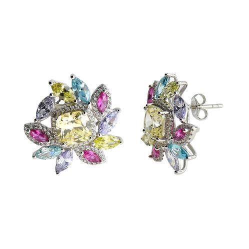 multi color cz earring