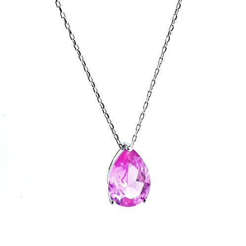 pink pear shaped pendant