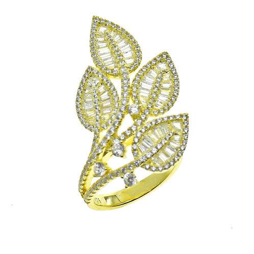 baguette leaf earring