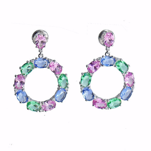 multi color drop earring