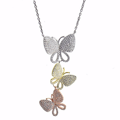 pave butterfly pendant
