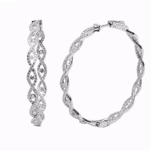 pave infinity hoop earring