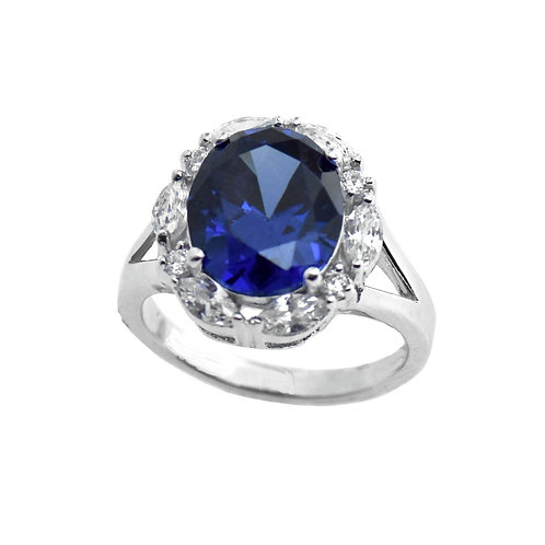 sterling silver tanzanite color cz ring