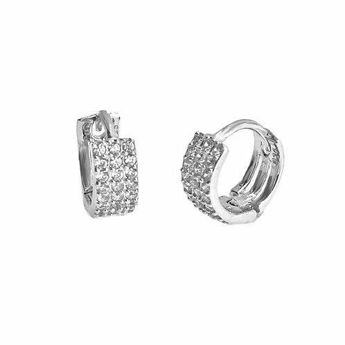 sterling silver mini huggie hoop earring