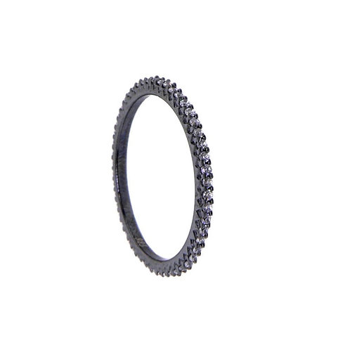 black rhodium stackable  ring