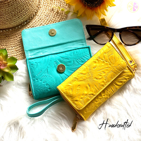 Handcrafted Wristlet wallets