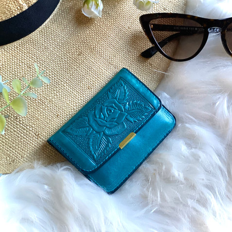 SMALL MINIMALIST WALLET WOMENS • LEATHER WALLETS • GIFT FOR HER