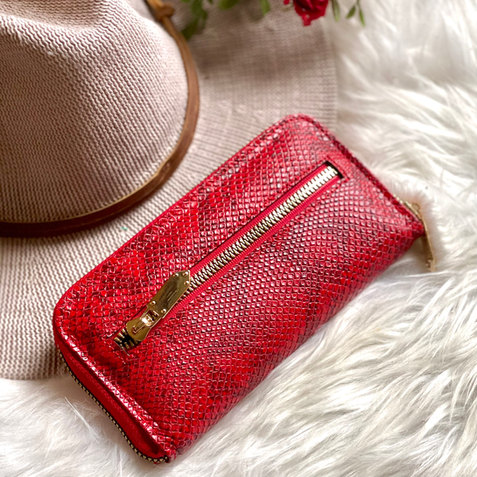 Snake like leather wallets for women • gifts for her • credit cards wallets