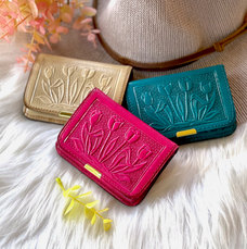 SMALL SUSTAINABLE LEATHER MINIMALIST CREDIT CARDS HOLDERS FOR WOMEN • LEATHER WALLETS • WALLET WOMEN• GIFTS FOR HER