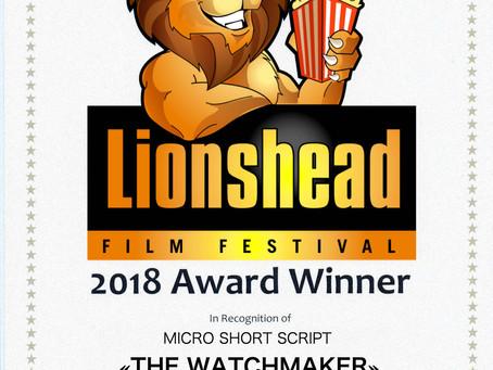 Сценарий «The Watchmaker» — победитель в номинации micro short script на Lionshead FF (USA)