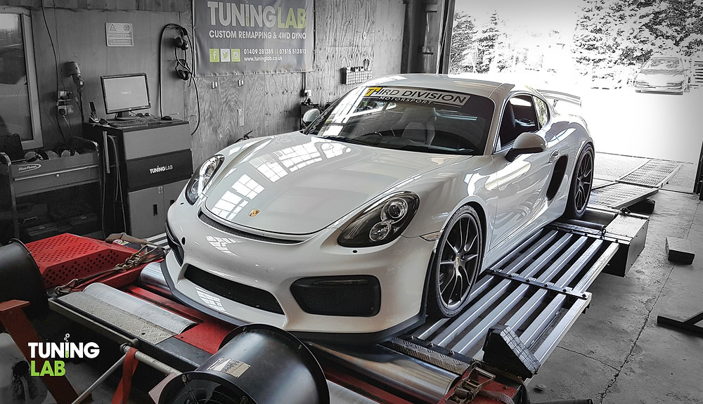 2014 Porsche Cayman on the dyno