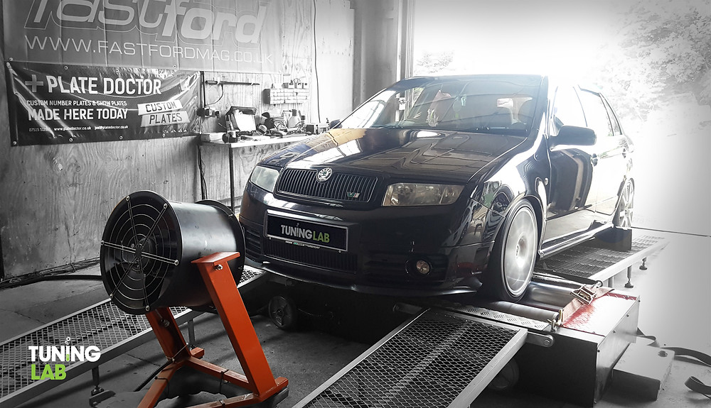 Skoda Fabia VRS in for a custom remap at Tuning Lab