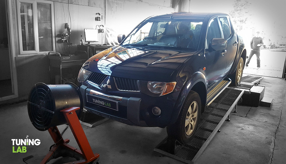 Mitsubishi L200 in for a Tuning Lab Custom Remap