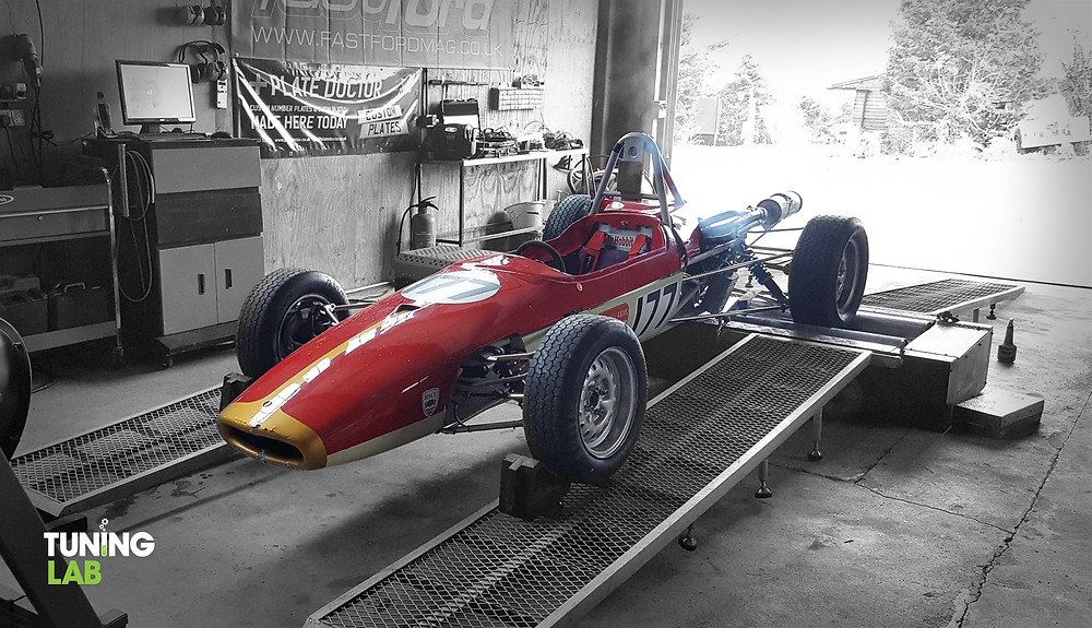 Formula Ford 1600 Crossflow on the rolling road dyno at Tuning Lab