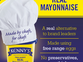 Kenny's Mayonnaise - front page in The Caterer!