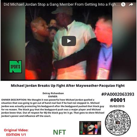 Michael Jordan Breaks Up Fight After May