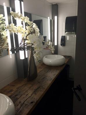 Badkamer blad van oude eiken wagondelen