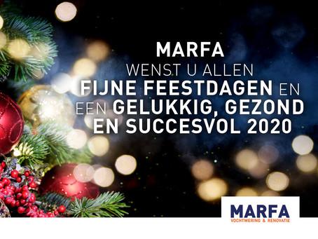 Fijne feestdagen en een gelukkig, gezond en succesvol 2020.