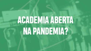 Academias abertas durante a Pandemia