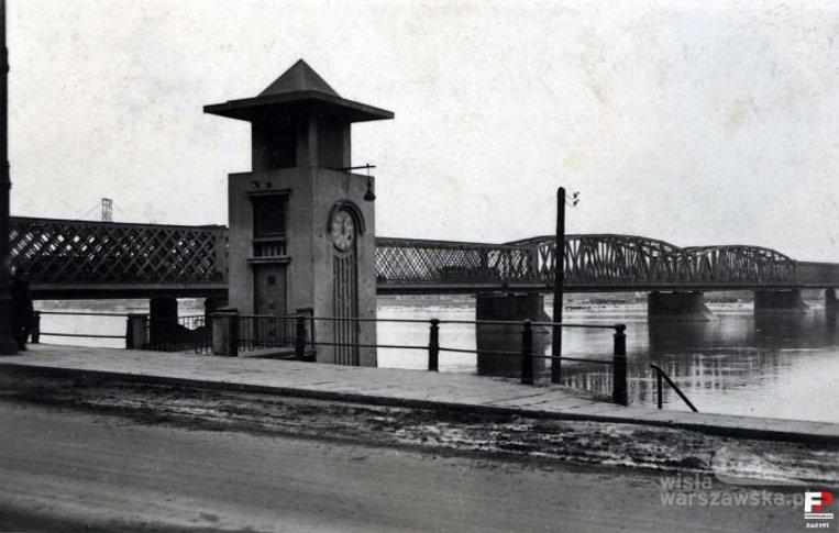 Wodowskaz warszawski w pobliżu mostu Kierbedzia, źródło: Fotopolska.eu