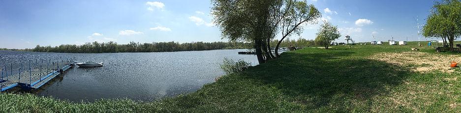 Stanica Wodna Flis. Widok na akwen stanicy, starorzecze Wisły | Płock, mazowieckie, Jezioro Włocławskie.