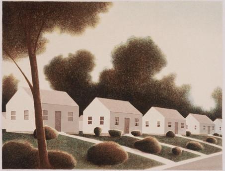 Suburban Apotheosis, silkscreen print, 2002