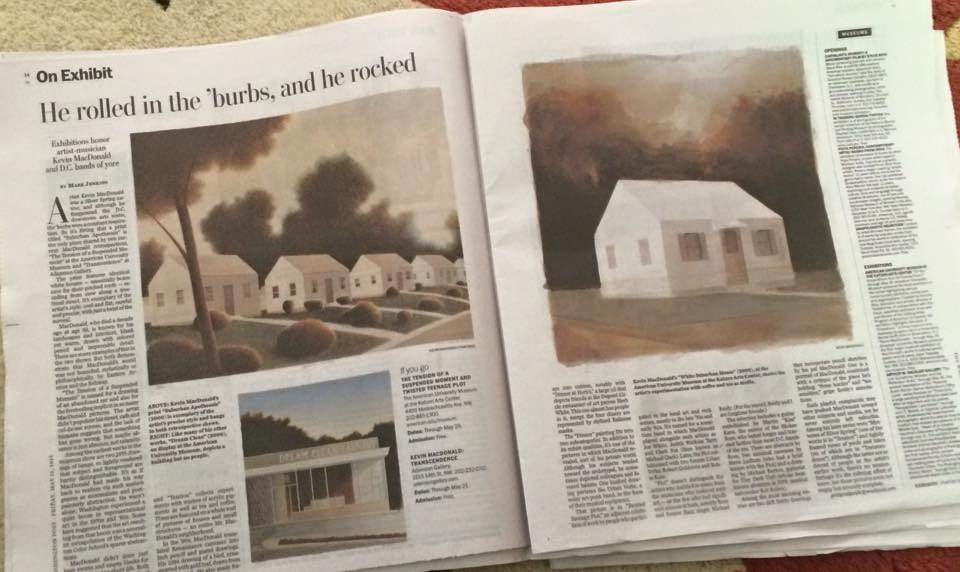 Image of the Washington post review of Kevin MacDonald exhibition at American University Museum 2016