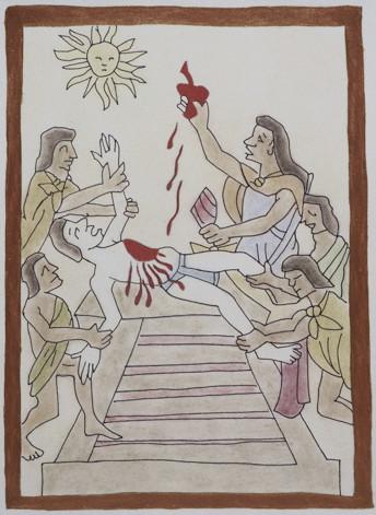 1995, Aztec Sacrifice, from Emblemata du Coeur series