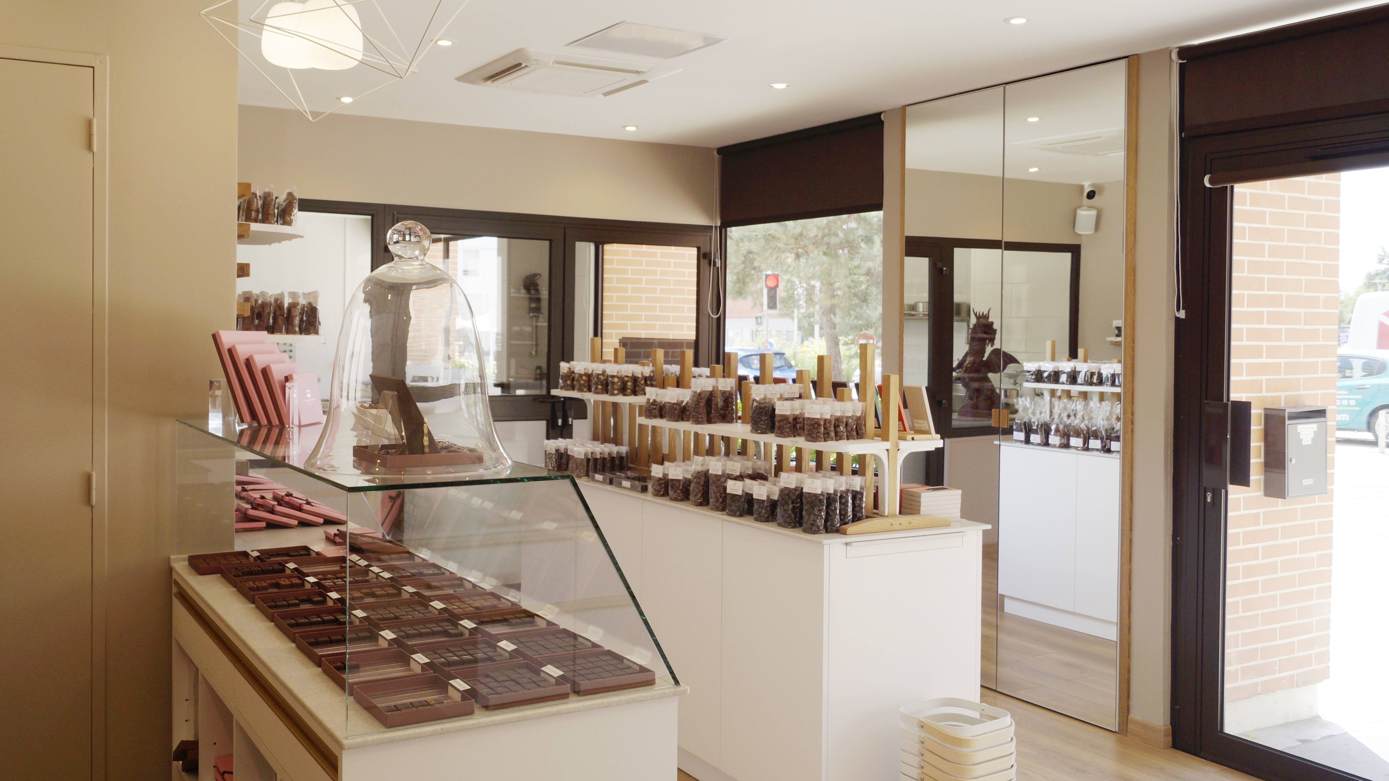 Aménagement d'une chocolaterie