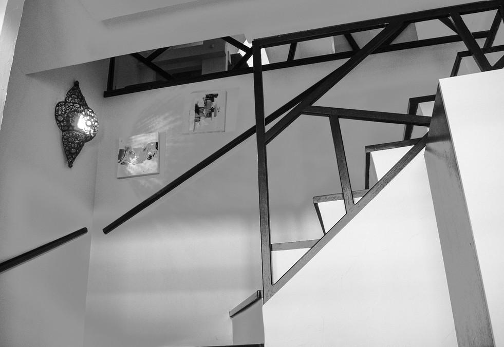 Agencement d'un hall d'entrée et de son escalier - Yvelines