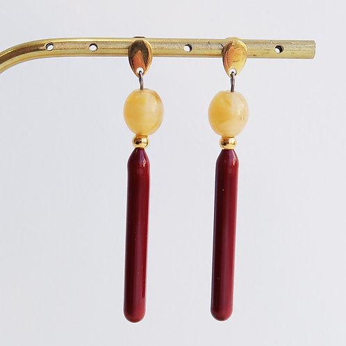 Boucles d'oreilles pendentes - Ref : PV 7
