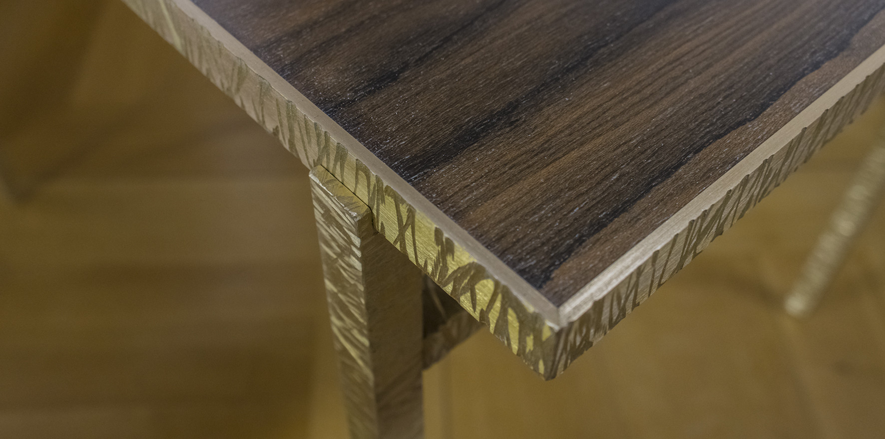 TABLE BASSE - HAMMERED BRASS