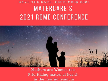 Save the date: September 2021, Rome