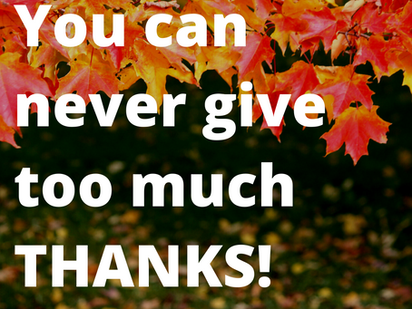 We're giving thanks!