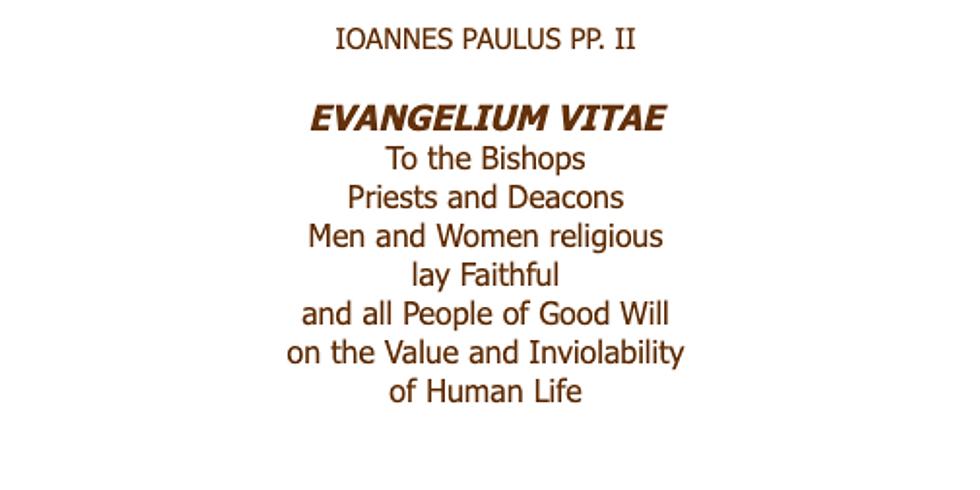 25th Anniversary of Evangelium Vitae