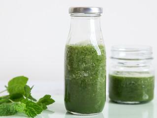 Grüner ballaststoffreicher Smoothie