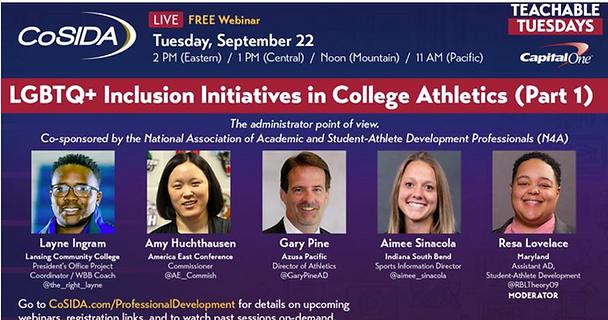 CoSIDA LGBTQ+ Inclusion Initiatives in College Athletics (Part 1)