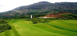 Golfing at Geysir