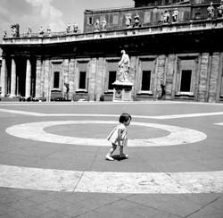 B&W MARIA RUNNING ST PETERS ROME 1966.jpg