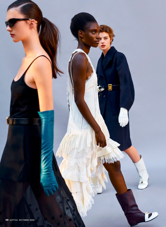 """Eloïse Longa for """"The Loveliness of LANVIN"""" story for INSTYLE MAG"""