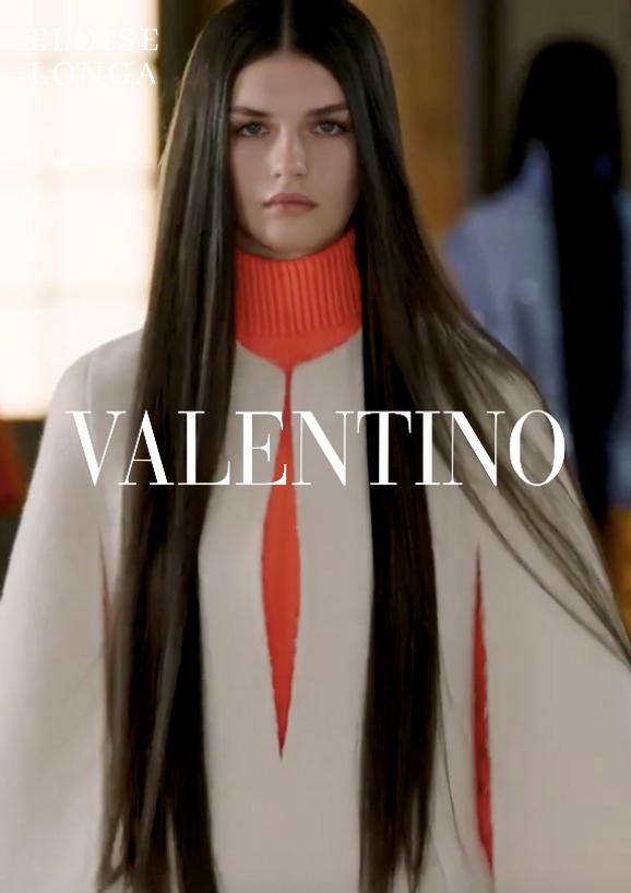 Eloïse Longa walking for Valentino Haute Couture
