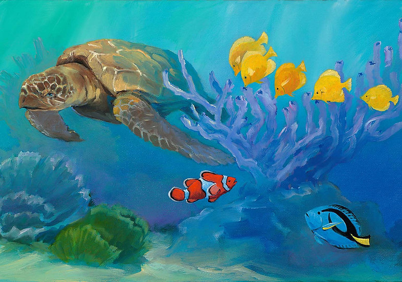 Reef Fish and Turtle