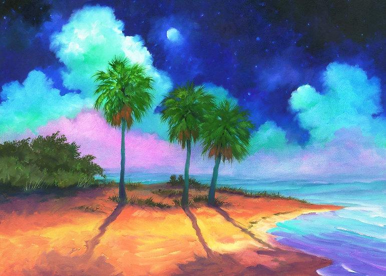 Three Palm Moon