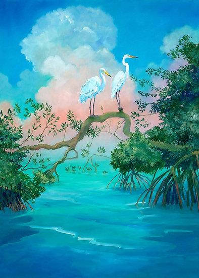 Egrets in Morning Light