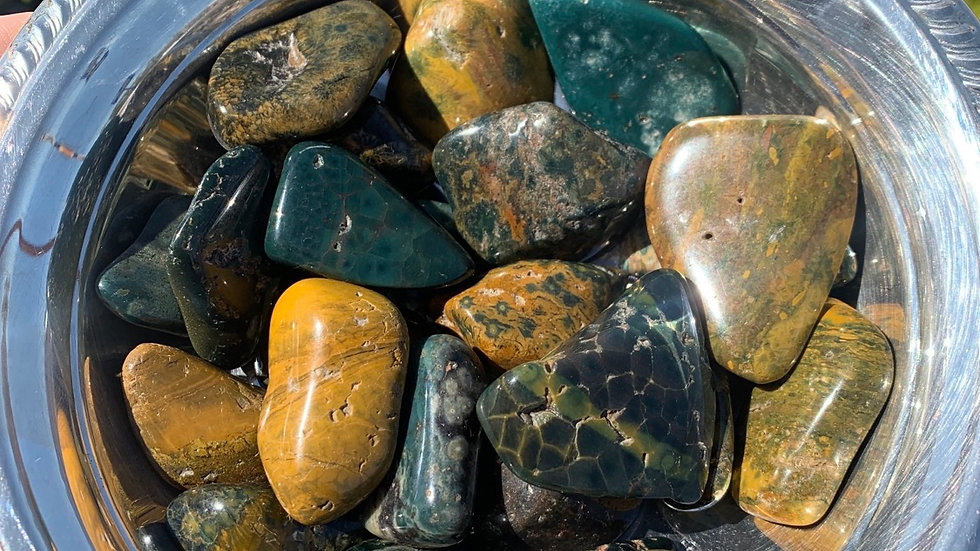 Ocean Jasper to bring you back to center
